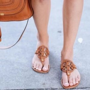 Tory Burch Miller Vintage Vachetta Flat sandal
